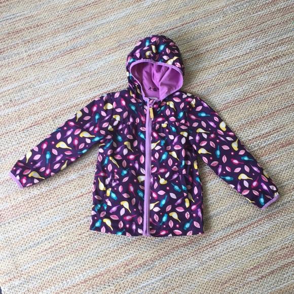 60bbaa723 Cat & Jack Jackets & Coats | Cat Jack Purple Birds Girls Jacket Size ...